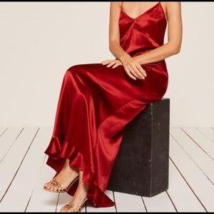 Brand New Silk Red Reformation Dress